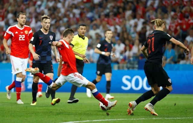 Denis Cheryshev vs Croatia tu ket World Cup 2018
