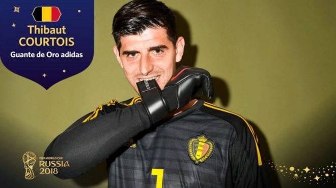 Gang tay vang World Cup 2018 Thibault Courtois